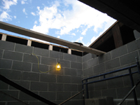 Third Floor--Elevator shaft opening in roof - October 11, 2010