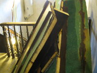Roof--Pieces of roof cut out for elevator - October 11, 2010