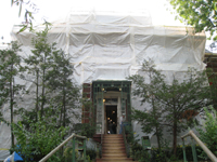 Elevation--North side during exterior paint removal by ice crystals blasting - October 19, 2010