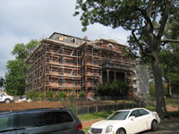 Elevation--South side before exterior paint removal by ice crystals blasting - October 19, 2010