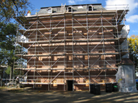 Elevation--East side after exterior paint removal - October 29, 2010