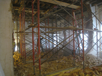Second Floor--Demolition of the two central walls (from west side) - November 3, 2010
