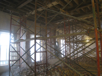 Second Floor--Demolition of the two central walls (from east side) - November 3, 2010