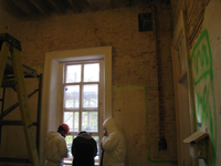 First Floor--Southeast room, bare brick on south wall - November 3, 2010