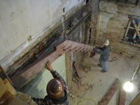 Ground Floor (Basement) - Installation of stair - November 3, 2010