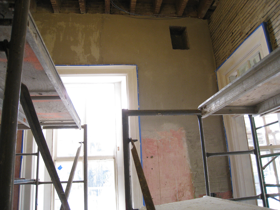 Second Floor--Southeast room--South wall.  New base applied (see 5571)