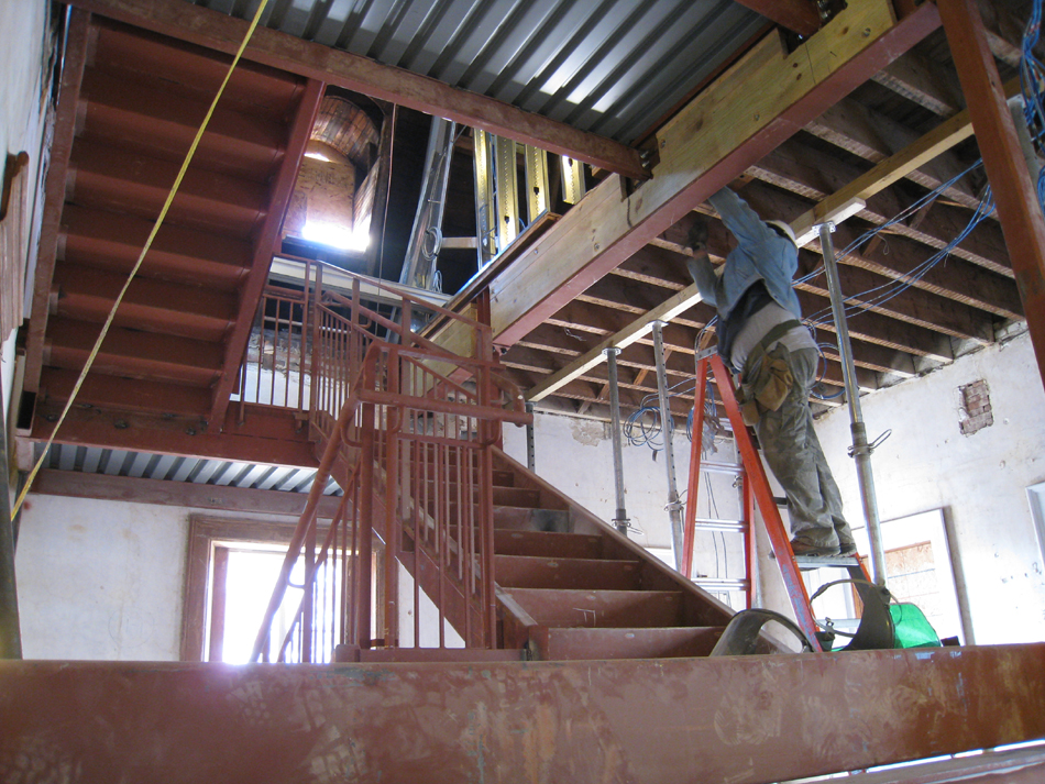 Second Floor--Installation of the west staircase