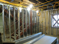 Ground Floor (Basement) - New room with west stairway - December 2, 2010