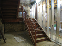 Ground Floor (Basement) - West stairway - December 2, 2010