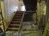 Ground Floor (Basement) - East Stairway under construction - December 2, 2010