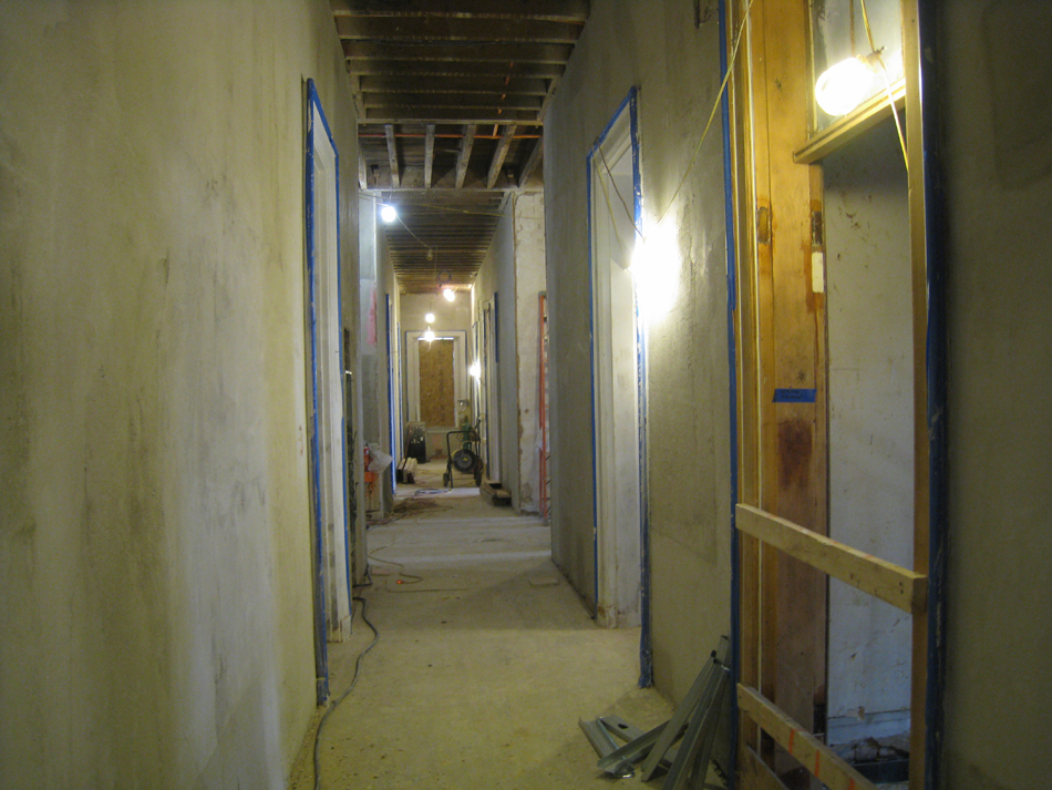 First Floor--Corridor looking to east