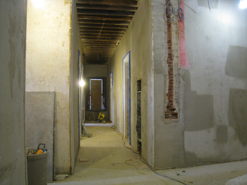 First Floor--Corridor looking west (with electrical box)