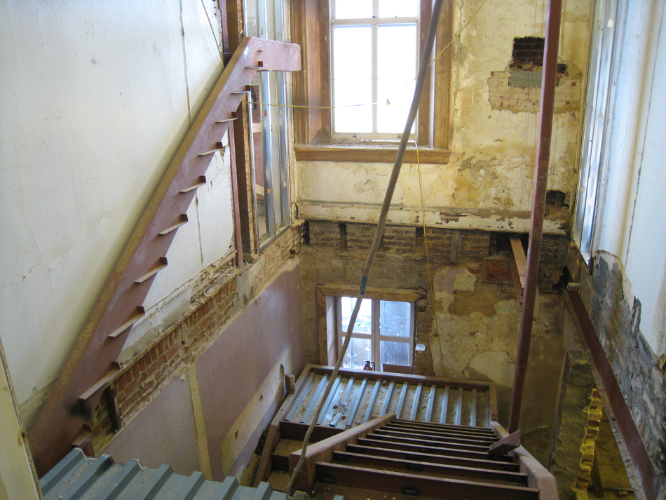 Second Floor--Construction of east stairway