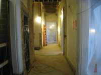 Second Floor--View east in corridor - December 2, 2010
