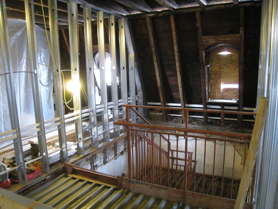 Third Floor--Top of west stairwell