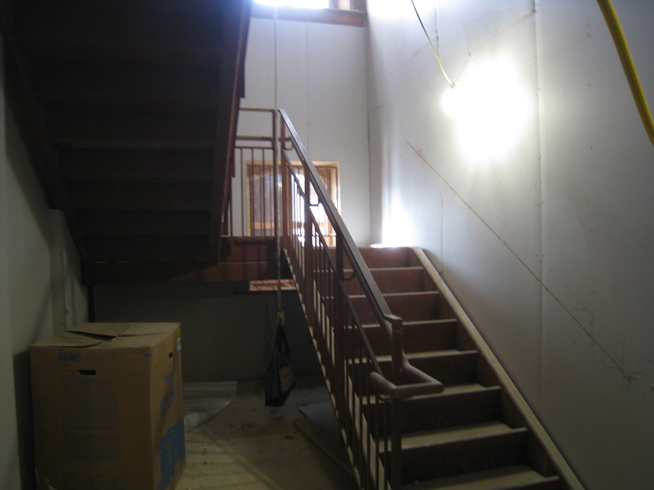 Ground Floor--West Stairwell - December 28, 2010
