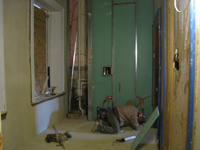 First Floor--Bathroom just east of north door - December 28, 2010