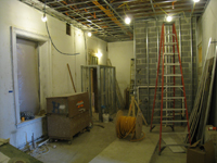 First Floor--North west room and elevator shaft - December 28, 2010
