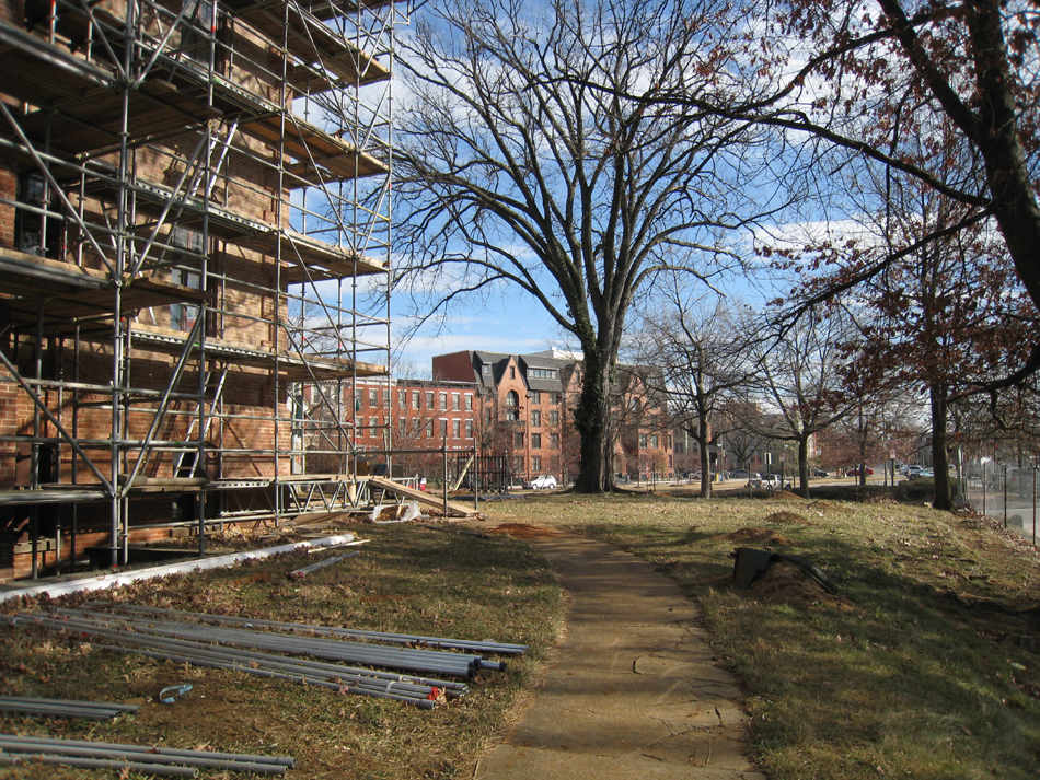 Grounds--Looking east from south entrance - December 28, 2010