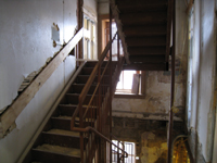 First Floor--East stairwell - January 7, 2011