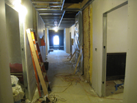 Third Floor--From stairwell entrance looking west - January 7, 2011
