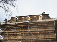 Roof--Removing slate and installing waterproof underlayment--East side - January 20, 2011