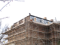 Roof--Removing slate and installing waterproof underlayment--Northeast corner - January 20, 2011
