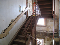 First Floor--West stairwell - January 20, 2011