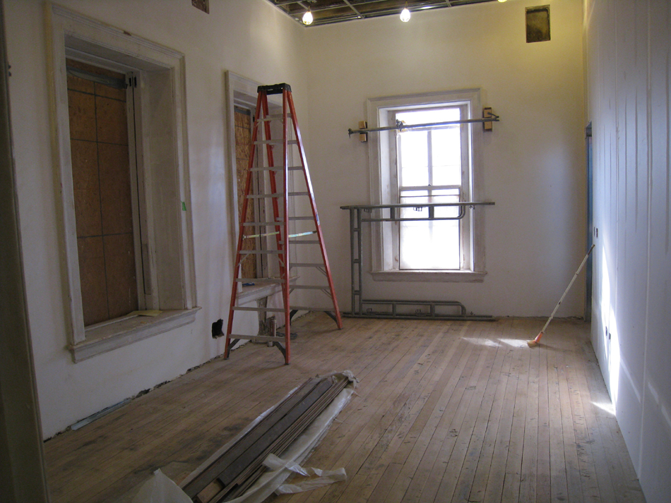 Second Floor--Southeast corner room with sanded original floor - January 20, 2011