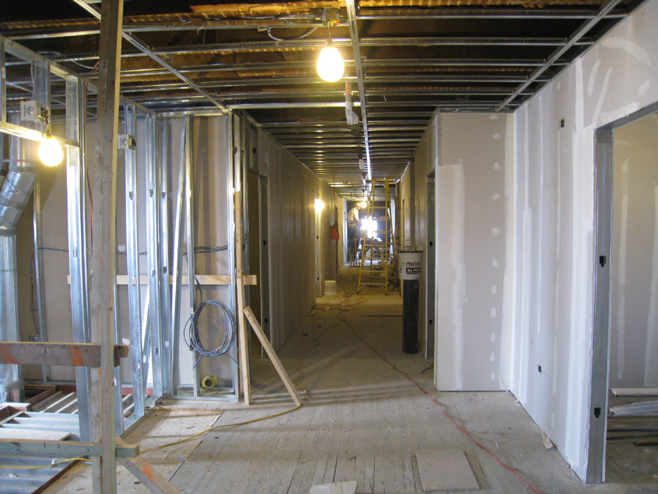 Third Floor--Corridor looking west from east side - January 20, 2011