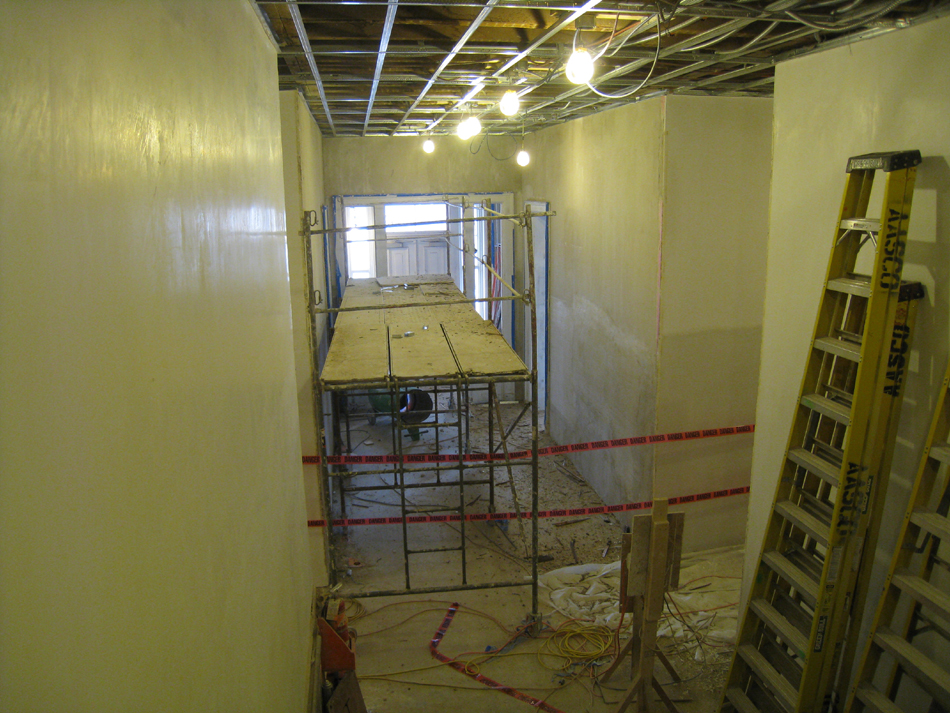 First Floor--Looking south towards the south entrance - February 1, 2011