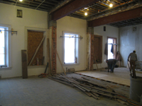 Second Floor--Large central room showing beams - February 1, 2011