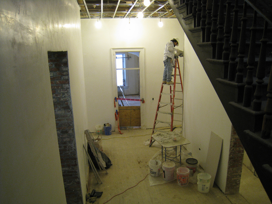 Second Floor-Corridor looking south from stairs - February 1, 2011