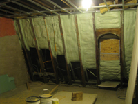 Third Floor--Insulation blown in, southwest central room - February 1, 2011