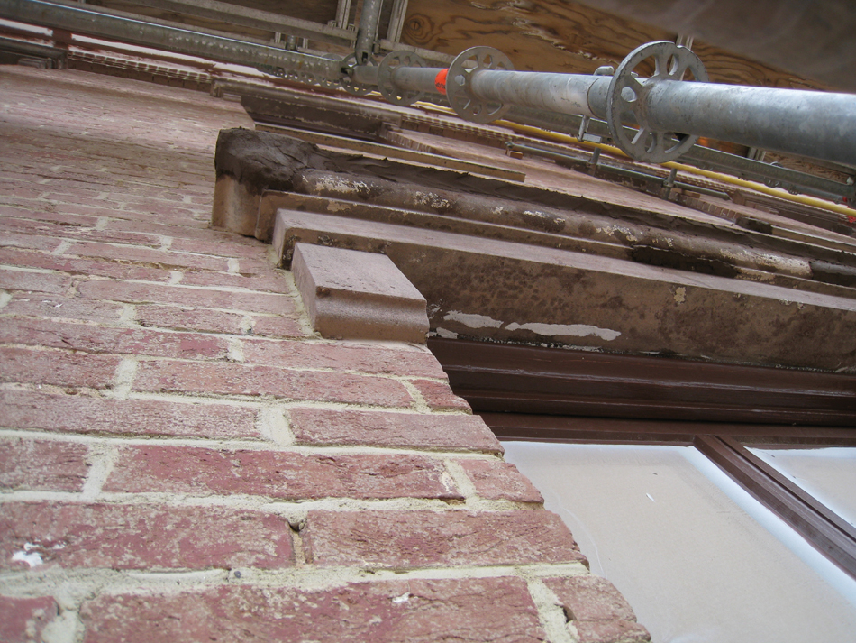 Windows and Doors--Repairing sills with Jahn Mortar (looking up) - February 18, 2011