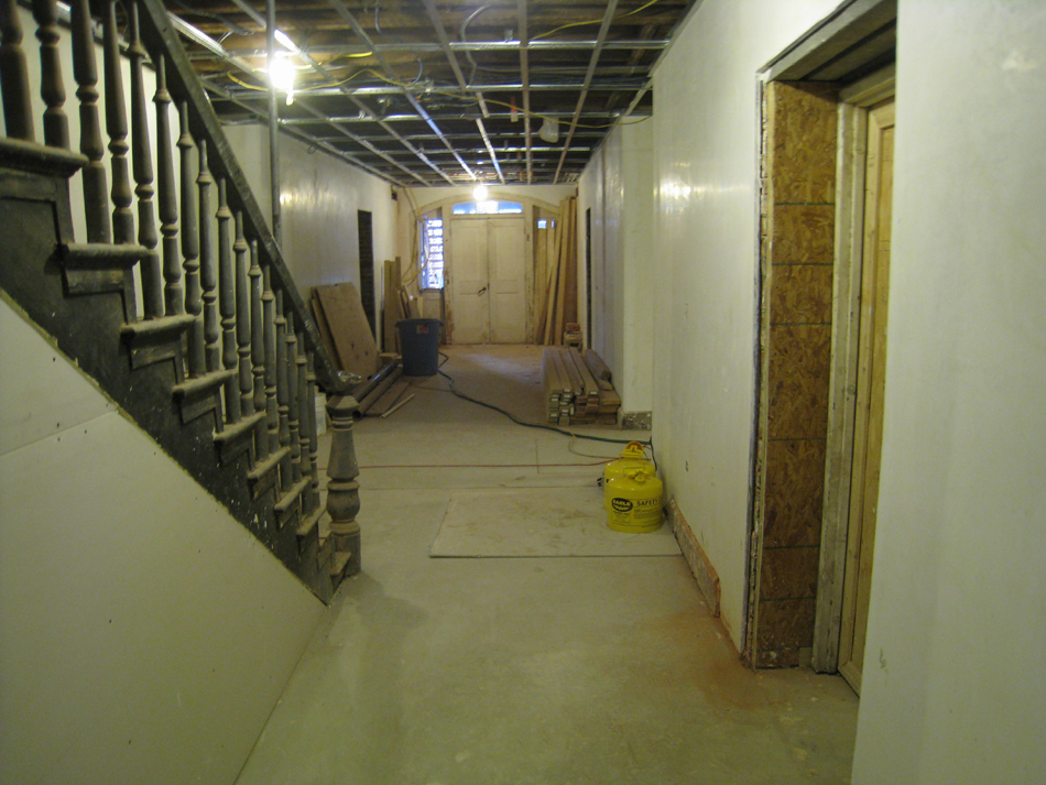 Ground Floor--View south to entrance - February 18, 2011
