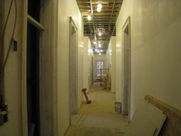 First Floor--Corridor looking west - February 18, 2011