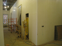 First Floor--Mid-Corridor looking west with electrical box - February 18, 2011