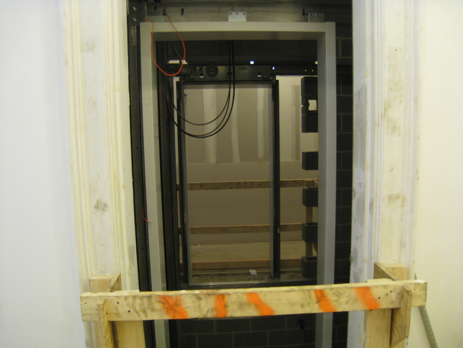 First Floor--Installed elevator - March 3, 2011