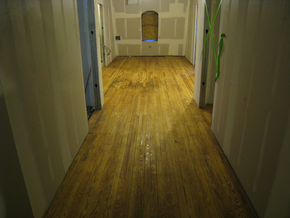 Third Floor--East Corridor--Final sanded and sealed original floors - March 3, 2011