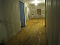 Third Floor--East corridor--final sanded and sealed original floor - March 3, 2011