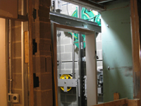 Third Floor--Elevator shaft, mechanisms - March 3, 2011