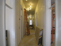 First Floor--East corridor looking west - March 19, 2011