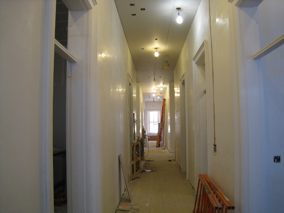 First Floor--West corridor looking east - March 19, 2011