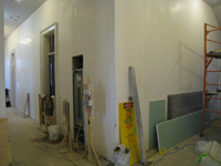 First Floor--Central corridor looking towards electrical panel and elevator - March 19, 2011