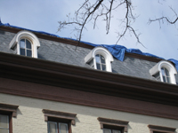 Roof--Newly installed slate and third floor windows - March 29, 2011