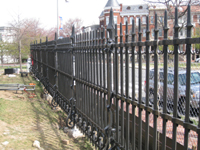 Fence--Newly installed fence along Tenth Street - March 29, 2011