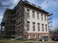 Elevation--East side, newly painted - March 29, 2011