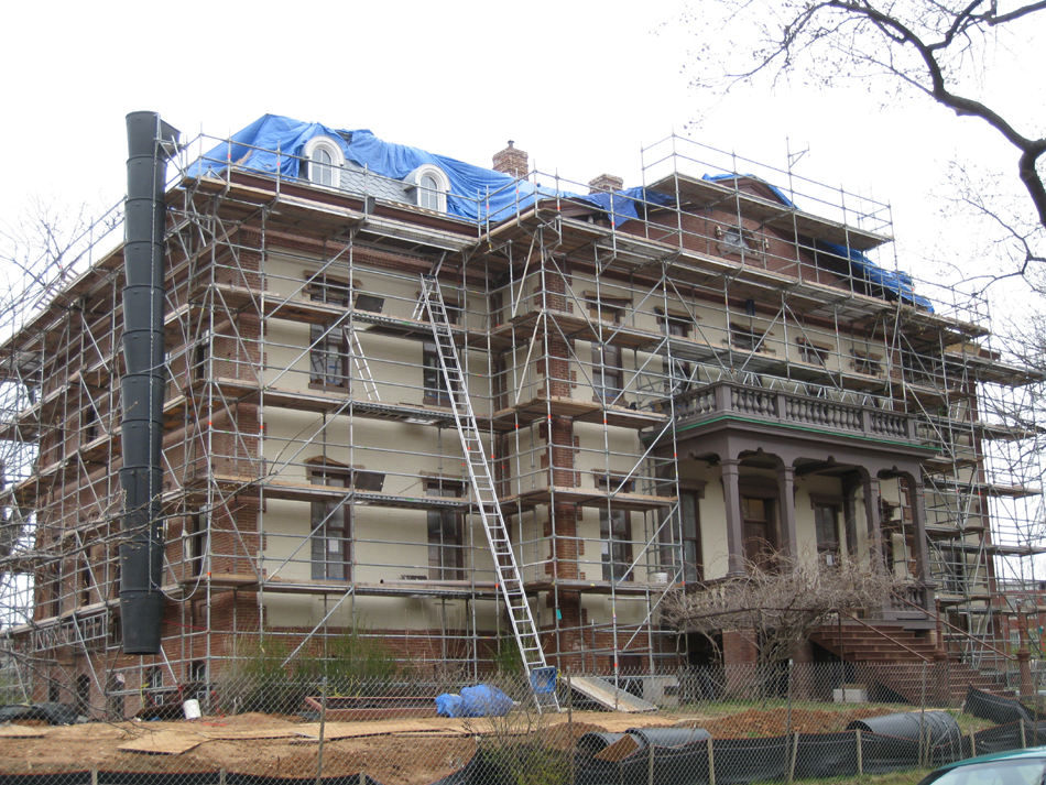 Elevation--Newly painted south side - March 30, 2011