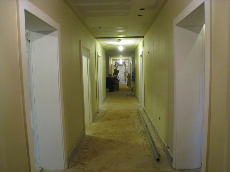 Ground Floor--Looking west from east end of corridor - April 9, 2011